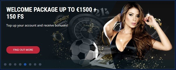 Exclusive Welcome Bonus on first 4 deposits (1500 EUR and 150 free spins)
