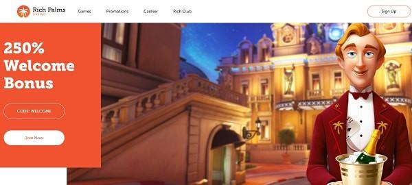Rich Casino Games 250% Welcome Bonus