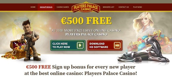 500 EUR Welcome Bonus and Free Spins