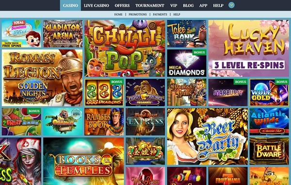 ParadiseWin Casino Website Review
