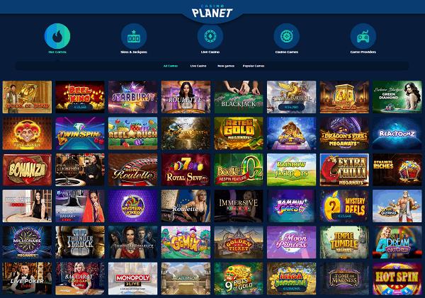 Casino Planet website review