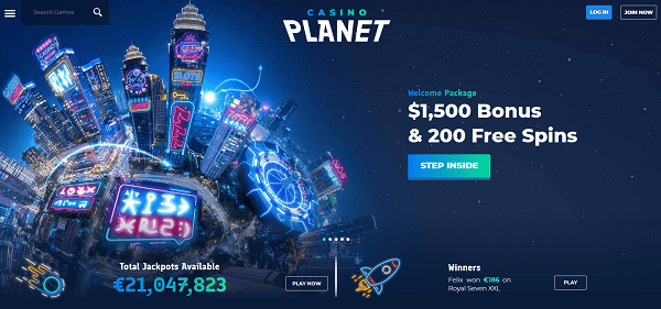 $1500 welcome bonus and 200 free spins