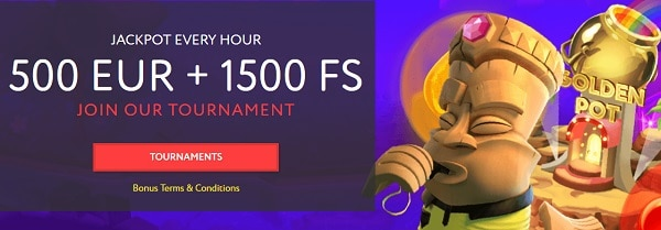 Win 500 EUR and 1500 Free Spins every day!
