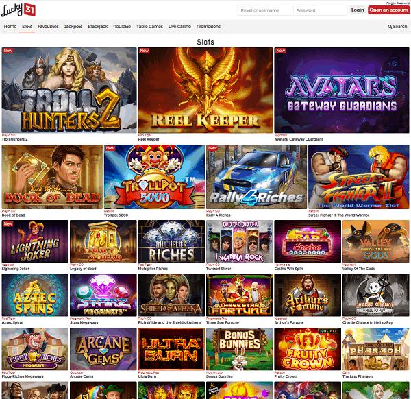 Lucky31 Casino Website Review