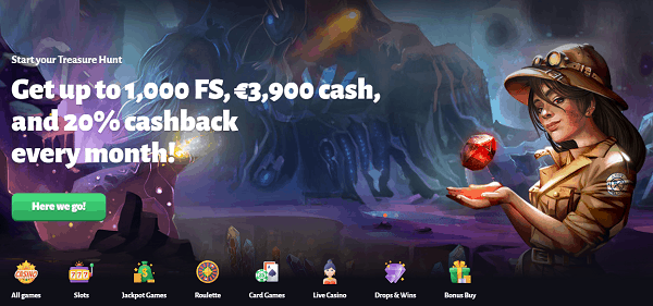 1000 Free Spins and 3900 EUR Free Cash Giveaway