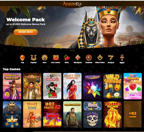 AmunRa Casino Website Review