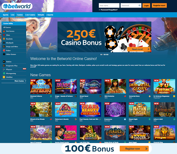 Betworld Casino Review