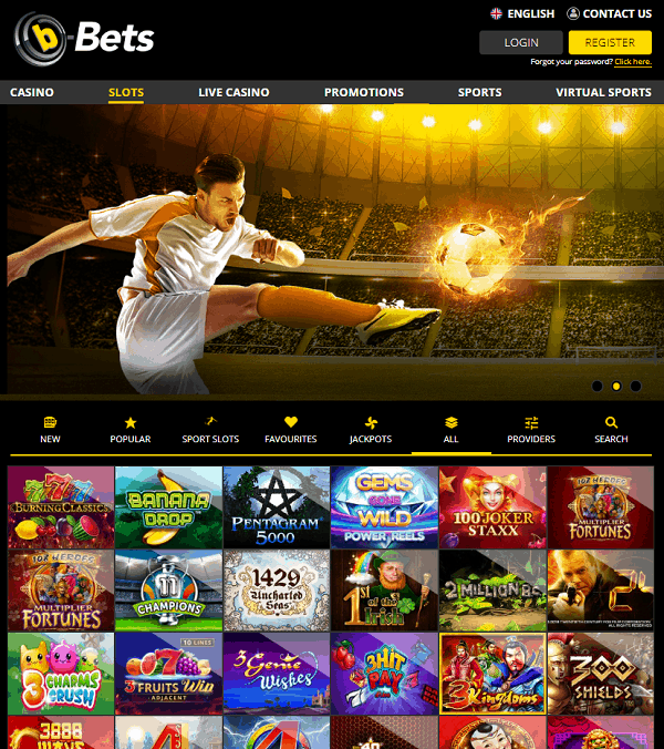 b-Bets Casino and Sportsbook Website Review