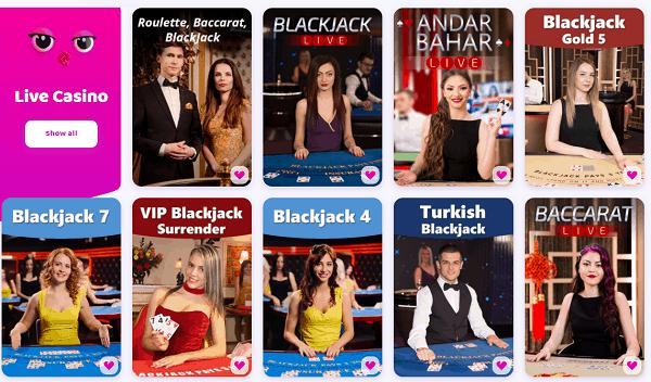 Live Dealer, TV Shows, Table Games