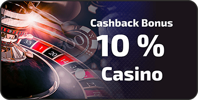 10% casino cashback bonus