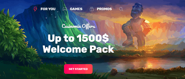 Up to $1500 welcome pack!