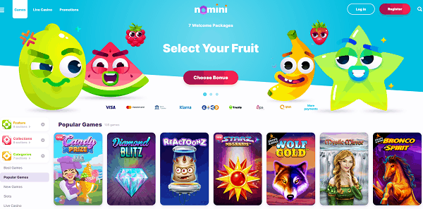 Select Your Fruit and Welcome Bonus