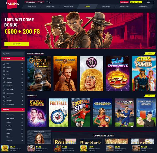 Rabona Casino Website Review