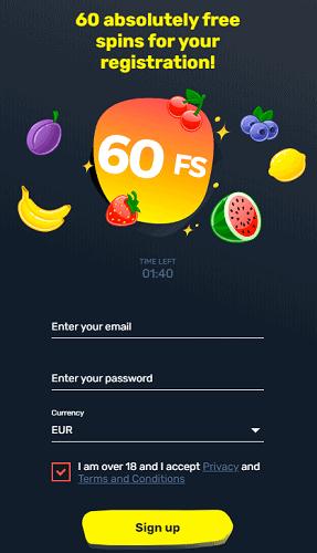 60 gratis spins no deposit