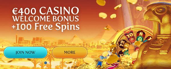 100 free spins bonus now!