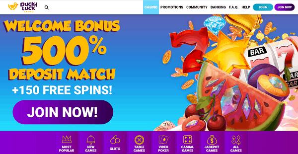 500% Welcome Bonus + 150 Free Spins