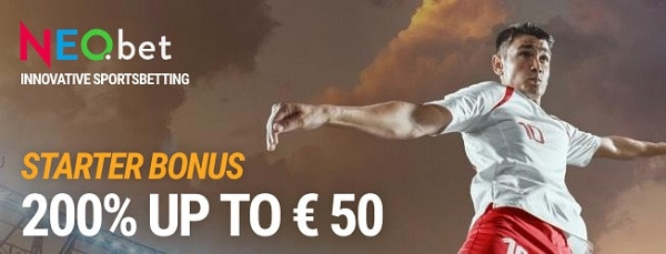 Welcome Bonus: 200% up to 50 EUR