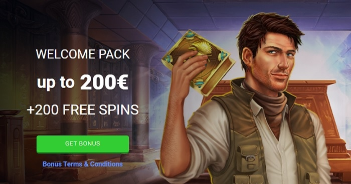200 free spins on Book of Dead