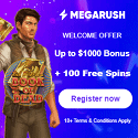 MegaRush Casino 100 free spins and 1,000 EUR/USD welcome bonus