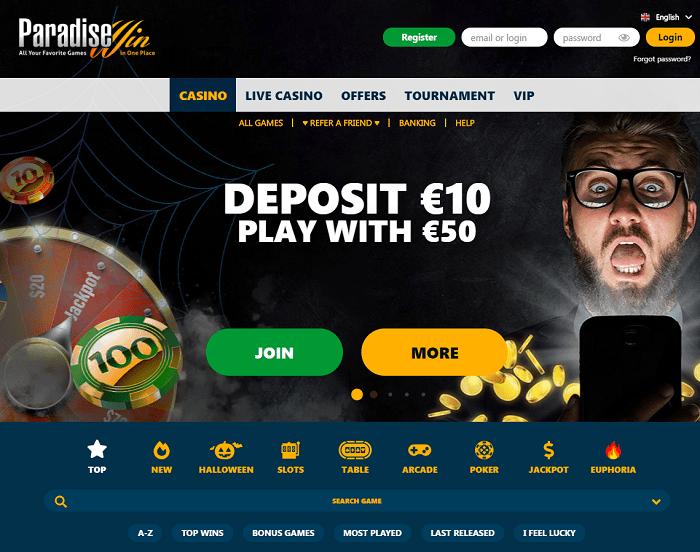 ParadiseWin Casino Review & Free Bonuses