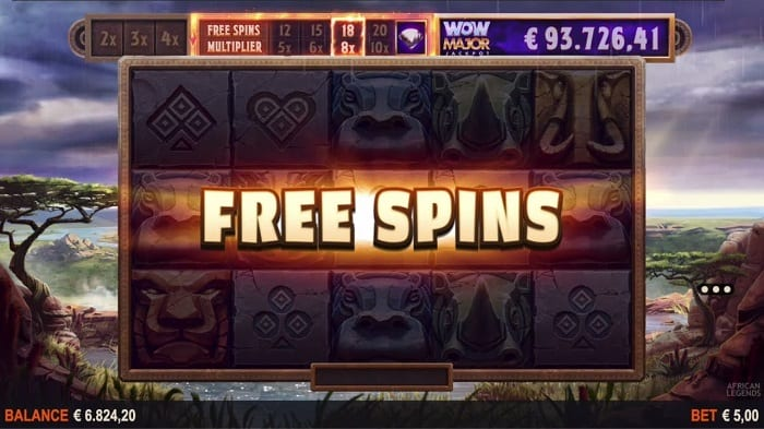 African Legends Jackpot Free Spins Bonus