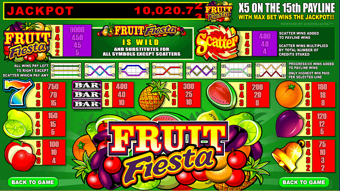 Fruit Fiesta free spins bonus