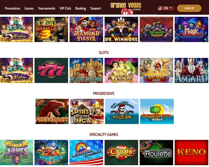 Grande Vegas Casino Full Review