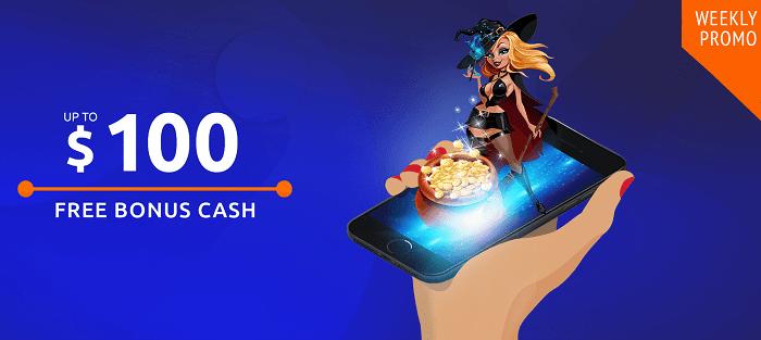 $100 free chip bonus