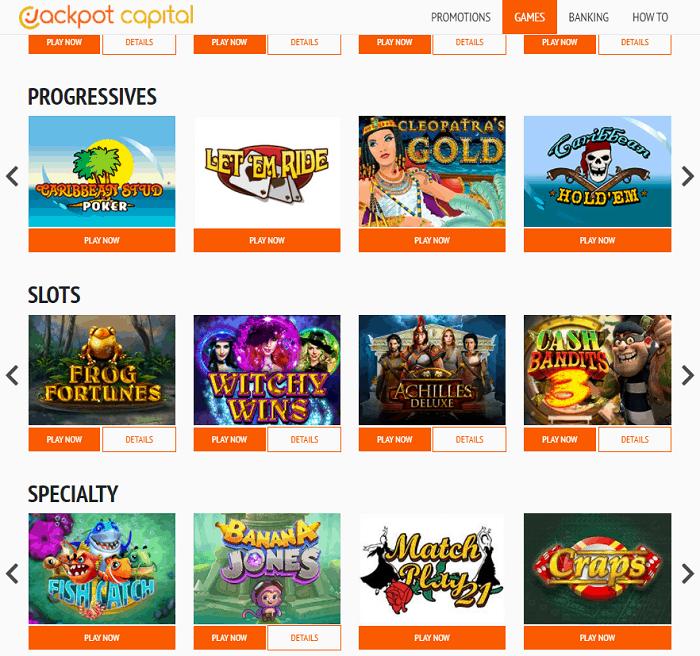 Jackpot Capital snapshot website