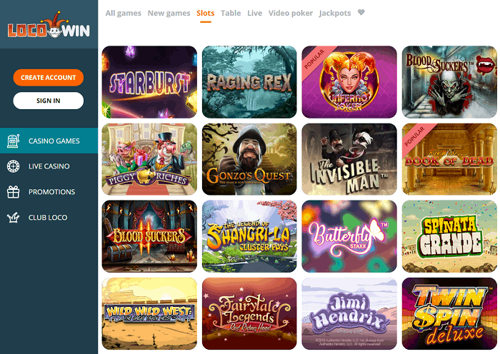Locowin Casino Website Review