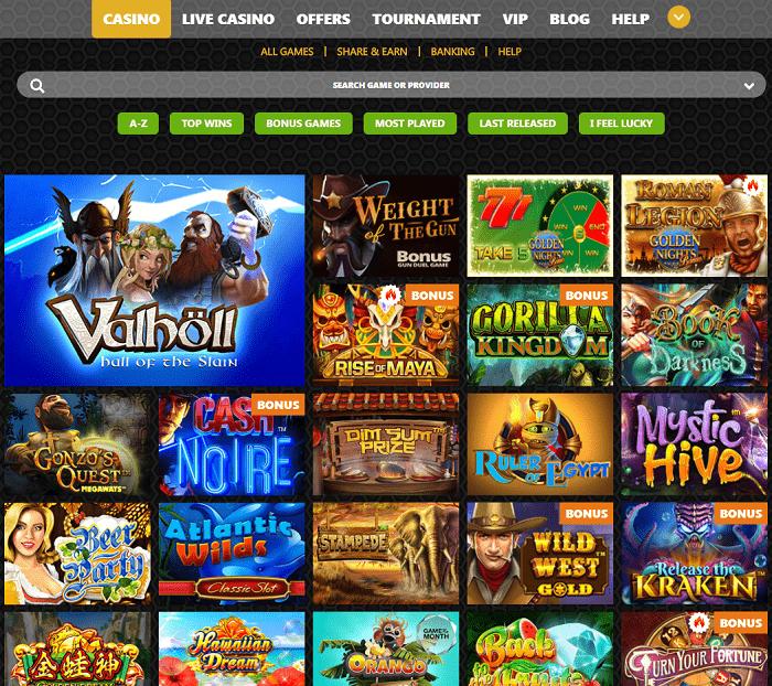Winolla Casino Website Review