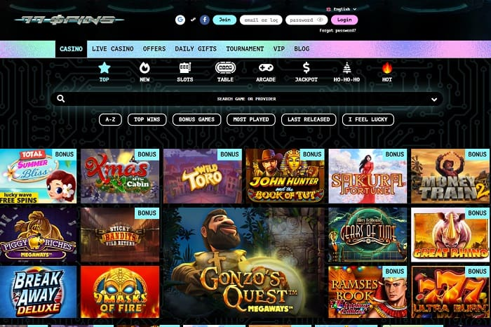 77Spins Casino Review Page