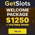 GetSlots Casino 155 free spins and $1250 welcome bonus