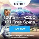 Casino Dome 21 Free Spins and €200 Welcome Bonus