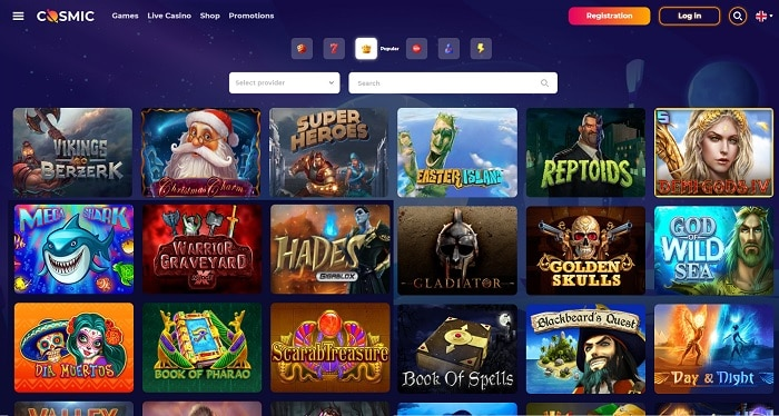 CosmicSlot Casino Free Games