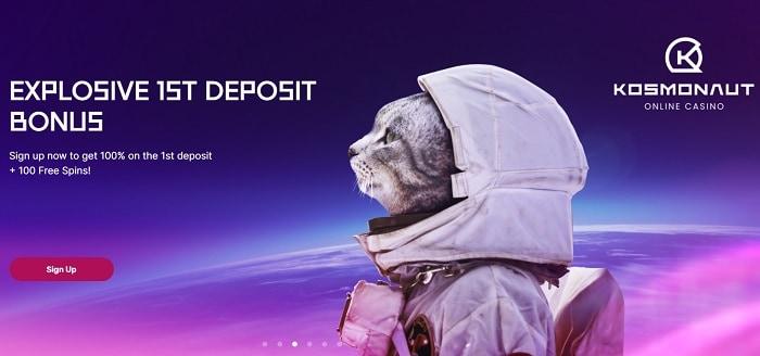 Explosive 1st deposit bonus