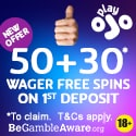 PlayOJO Casino 50 + 30 free spins no wager bonus