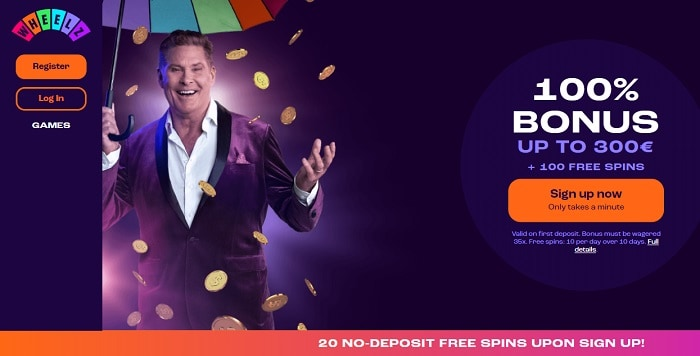 100% Welcome Bonus and 100 Free Spins (On Deposit)