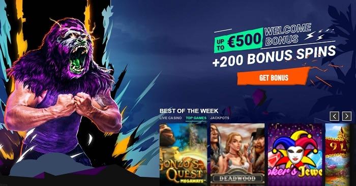 200 FS and 100% casino bonus
