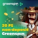 Greenspin.Bet Casino 20 no deposit free spins plus 300 Free Spins and €5000 Welcome Bonus