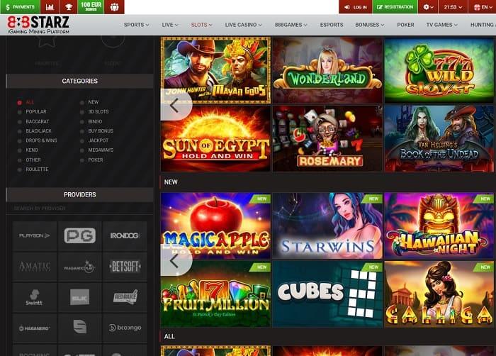 888 Starz Casino Free Spins Bonus