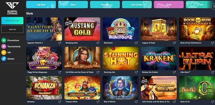 Buran Casino Games