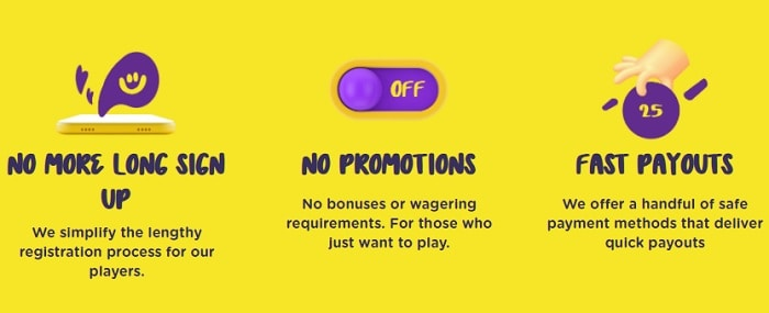 Fast Sign up! No Bonuses! Fast Payouts!