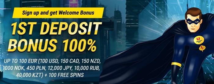 1st deposit bonus