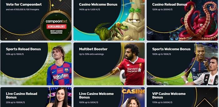 Campeon Casino Bonus