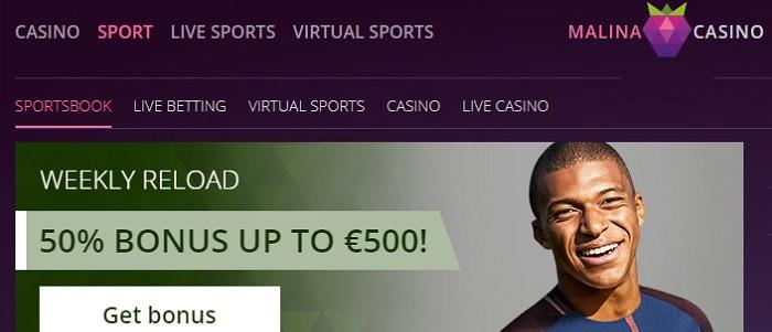 Malina Sport Free Bonus