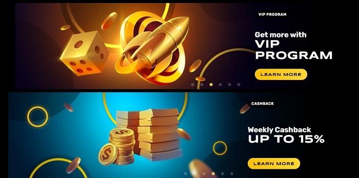 VIP Program and Weekly Cashback