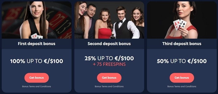 Welcome Offers on 3 deposits