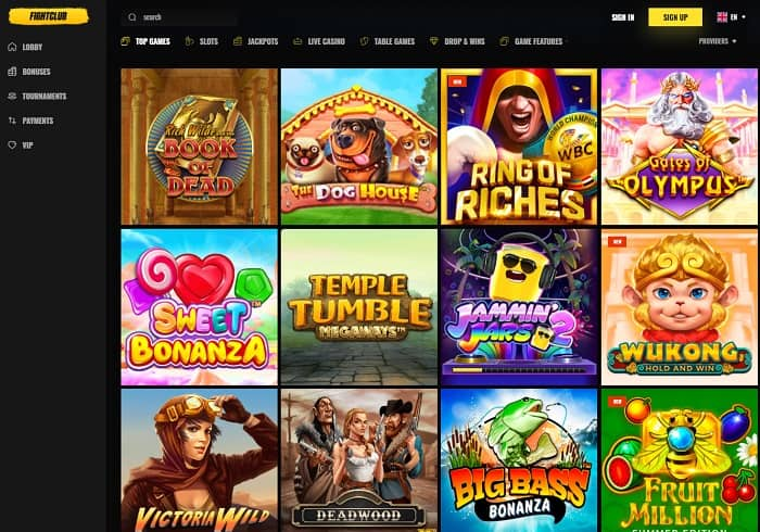 Fight Club Casino Free Spins Bonus