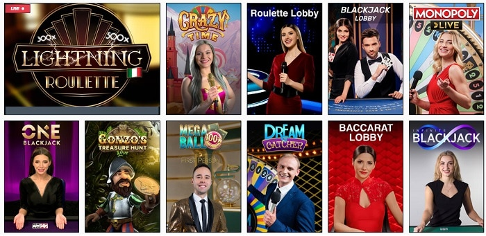 Lucky Elektra Live Casino
